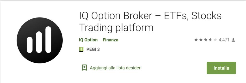 Recensioni IQ Option Play Store