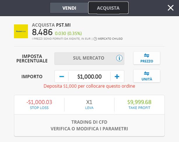 poste italiane forex platformă investiți în bitcoins fără atașamente