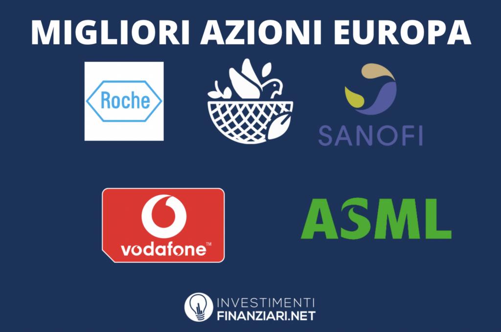Migliori azioni europee da comprare - infografica