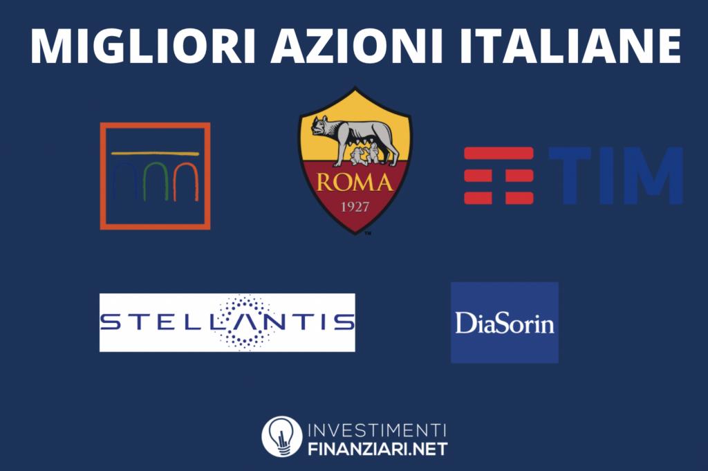 Migliori azioni italiane da comprare - infografica