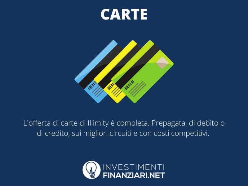 Illimity carte - a cura di InvestimentiFinanziari.net