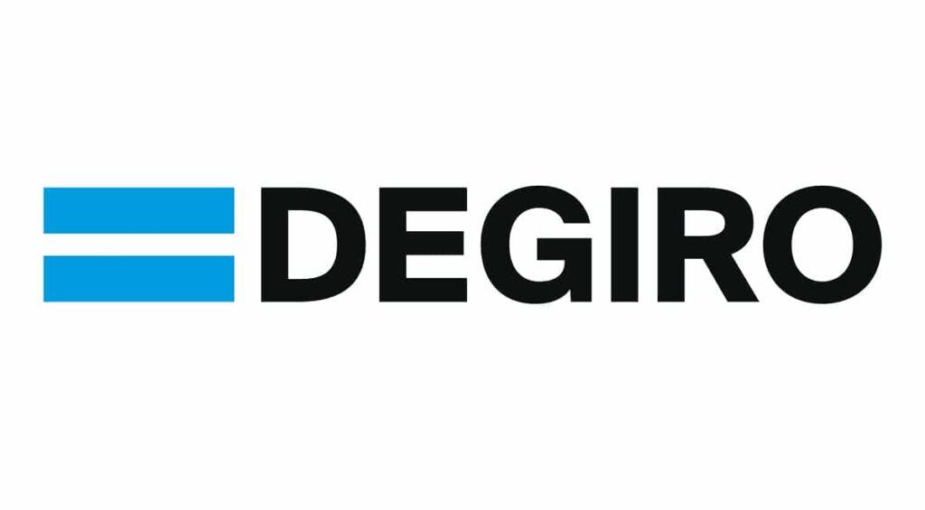 Il logo del broker di trading online DeGiro