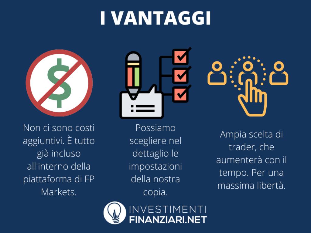 Vantaggi Copy Trading FP Markets - infografica a cura di InvestimentiFinanziari.net