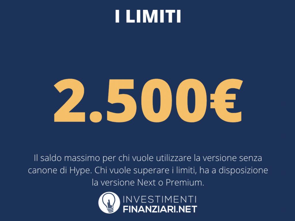 Saldo limite Hype - a cura di InvestimentiFinanziari.net