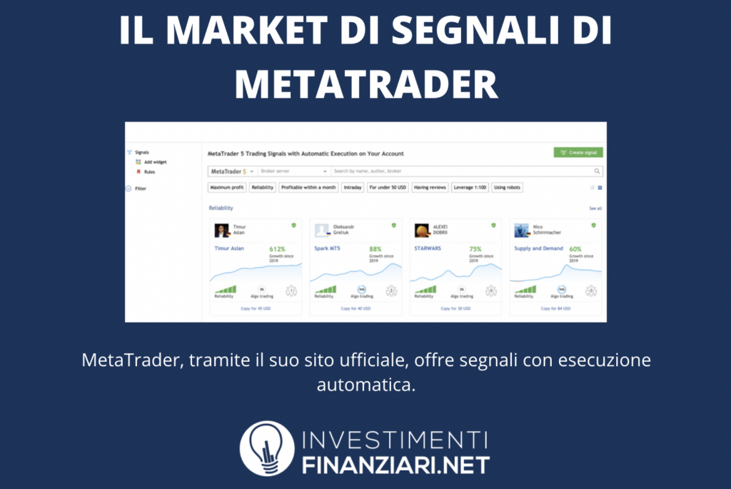 vendita segnali operativi forex