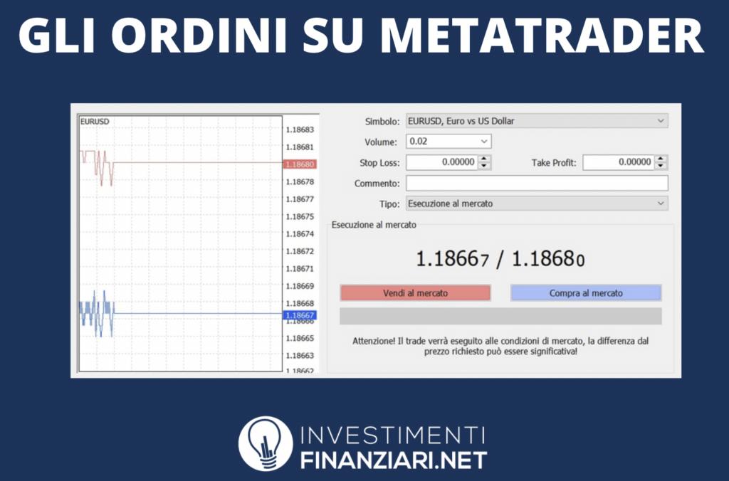 MetaTrader Ordini - plancia - infografica di InvestimentiFinanziari.net