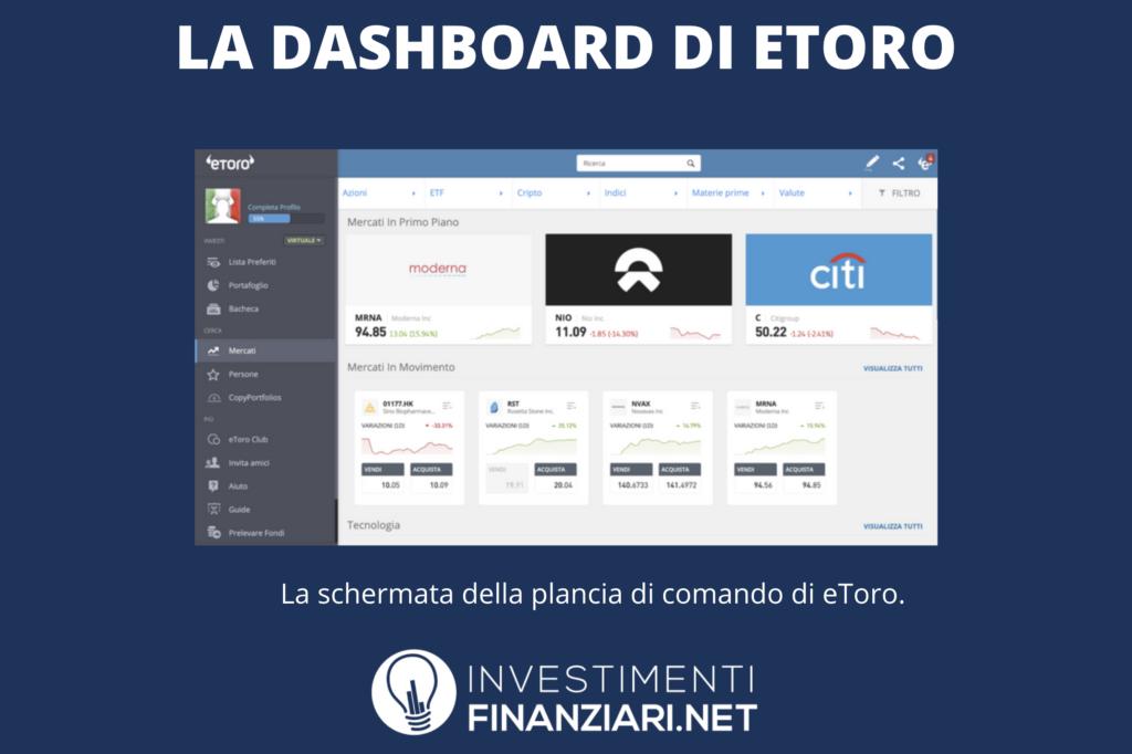 eToro Dashboard - a cura di InvestimentiFinanziari.net