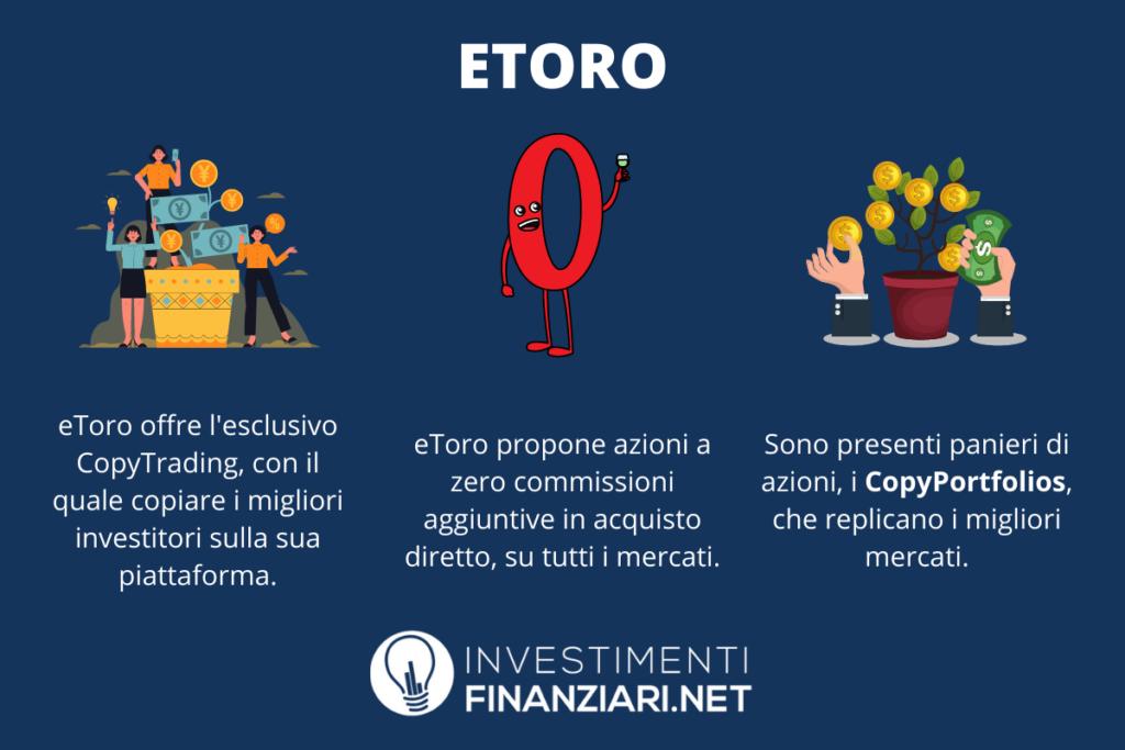 eToro - caratteristiche principali - a cura di InvestimentiFinanziari.net
