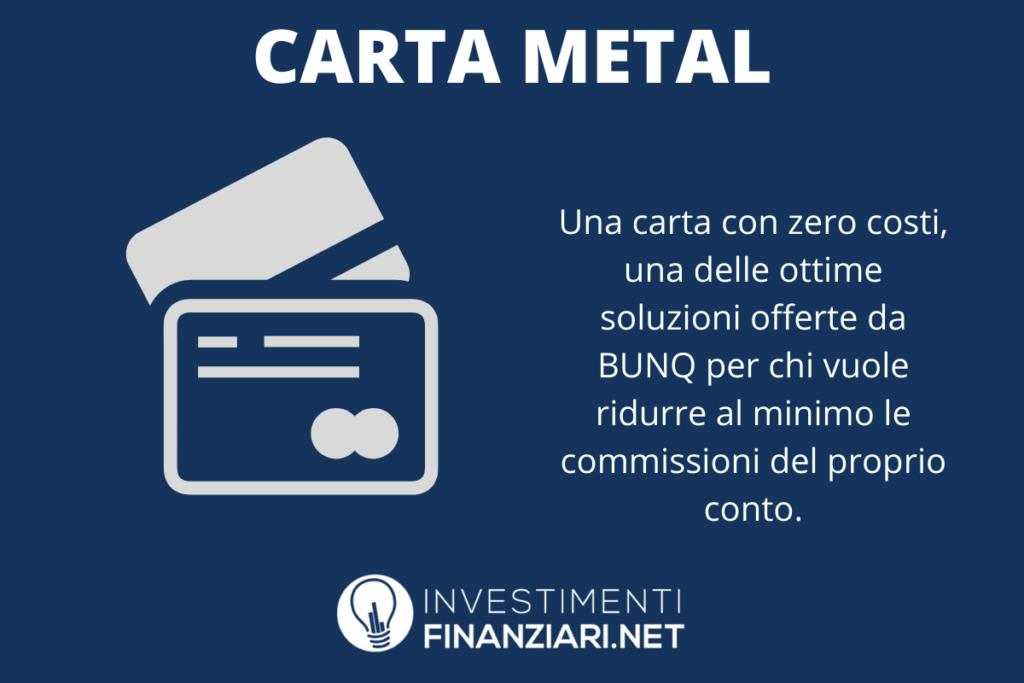 Carta Metal di BUNQ - di InvestimentiFinanziari.net