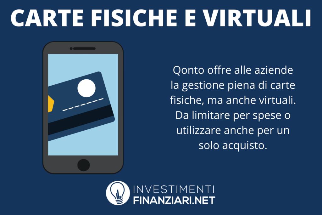 qonto - gestione carte virtuali e fisiche - infografica di InvestimentiFinanziari.net