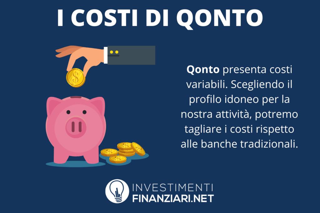 Qonto - costo dei servizi - a cura di InvestimentiFinanziari.net