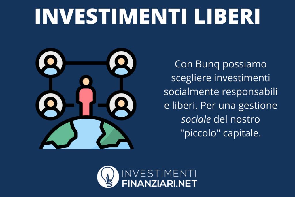 Gli investimenti liberi di BUNQ - a cura di InvestimentiFinanziari.net