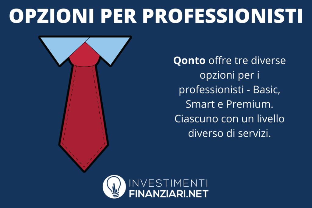 Qonto per freelancer e professionisti - infografica di InvestimentiFinanziari.net