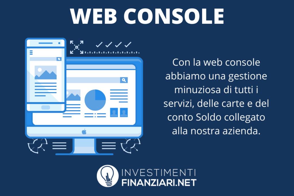 Soldo - conto aziendale web console - di InvestimentiFinanziari.net