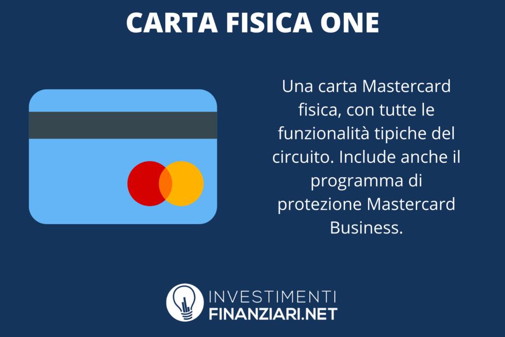 Carta One Qonto Fisica - caratteristiche - di InvestimentiFinanziari.net