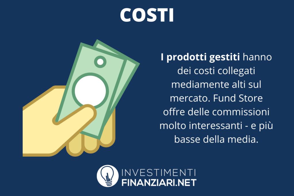 Costi di Fundstore - di InvestimentiFinanziari.net